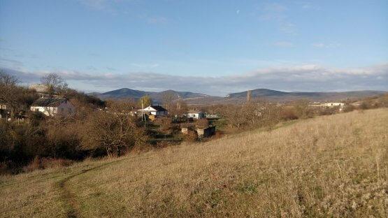Вид на горы Новобобровское